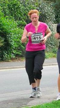 Liz's first half marathon 2010